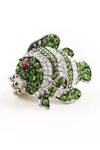 Green Crystal Fish Ring-1