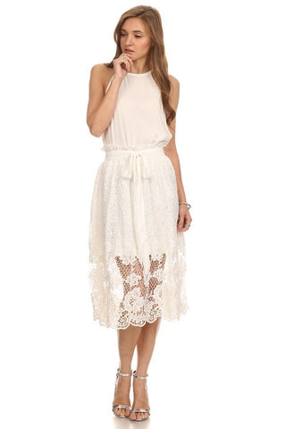 All Over Floral Lace Skirt-1