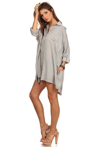 Boyfriend Shirt Dress-1