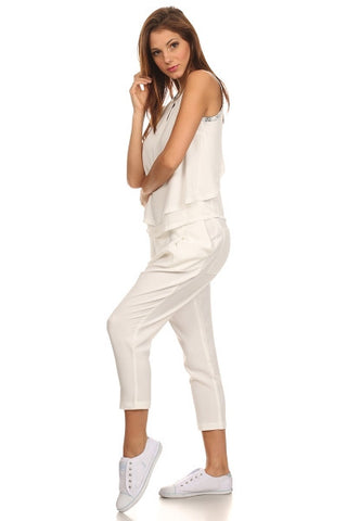 Cropped Pants with Python Trim-1