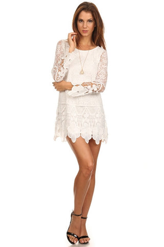 Crochet Lace Dress-1