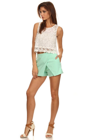 Crochet Lace Cropped Top-1