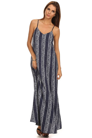 Tribal Border Print Maxi Dress-1