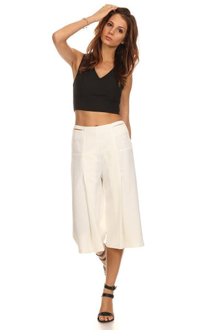 3/4 Length Culottes Pants-1