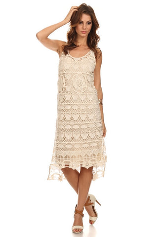 Crocheted Hi Lo Beach Dress-1