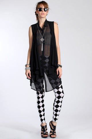 Sheer Double Front Tunic-1