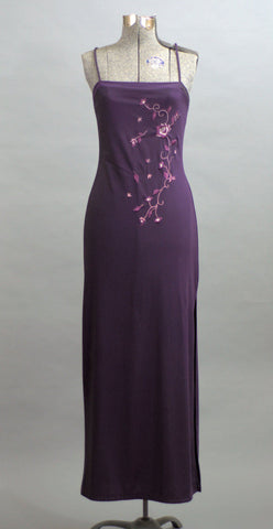 Vintage 1990 Long Purple Dreams Cocktail Dress - ROBINS HERITAGE USA Vintage