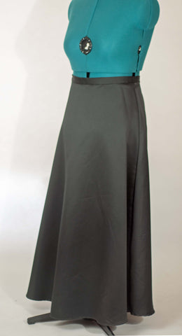 Vintage Coal Black Long Maxi Skirt from the 1980s, Vintage Skirt