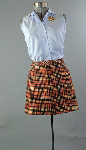 Stephanie School Days Vintage 1970s Micro Mini Skirt - ROBINS HERITAGE USA Vintage