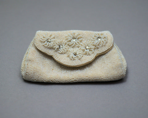 Mini Clutch Bead and Sequin 1940 Purse Just In - ROBINS HERITAGE USA Vintage