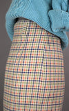 Collegiate Preppy Plaid Vintage Denim Skirt. 1980 Paul Harris Vintage Denim Skirt - ROBINS HERITAGE USA Vintage - 3
