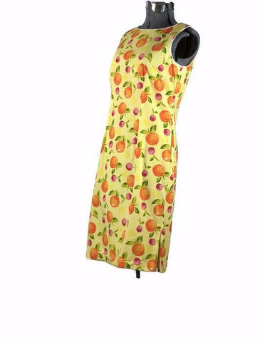 Orange You Glad To See Me Retro Talbot's Cotton Day Dress - ROBINS HERITAGE USA Vintage