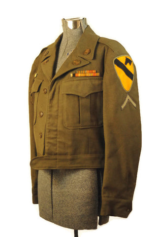 Antique World War II 1st Calvary Men's Wool Eisenhower Jacket