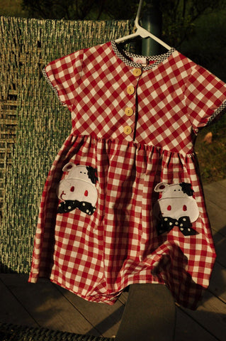 Vintage Childs Buster Brown Dress - ROBINS HERITAGE USA Vintage