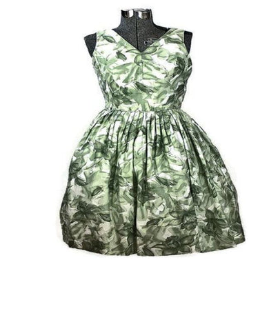 1950 Rockabilly Rose Summer Vintage Sun Dress, Just In - ROBINS HERITAGE USA Vintage