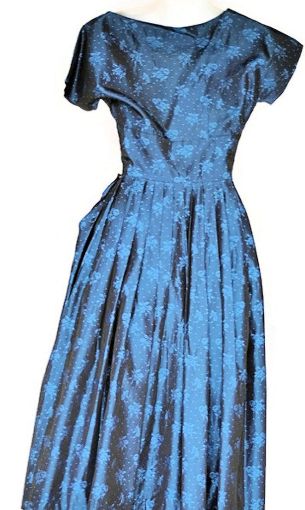 1950\'s Midnight Dotted Swiss Vintage Cocktail Dress – ROBINS ...