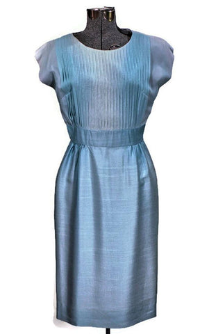 1960 Topaz Ice Vintage Cocktail Dress, Just In - ROBINS HERITAGE USA Vintage