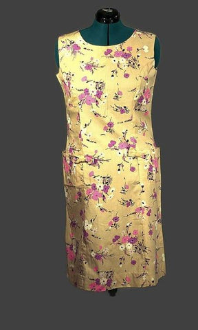 Shaker Square Vintage 1960 Sleeveless Shift Dress, Plus Size - ROBINS HERITAGE USA Vintage - 1