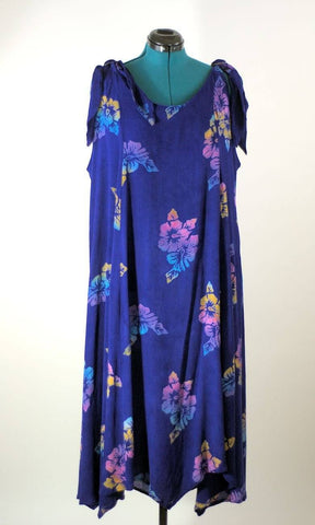 Modern Grecian Style Cotton Batik Dress, Plus Size - ROBINS HERITAGE USA Vintage