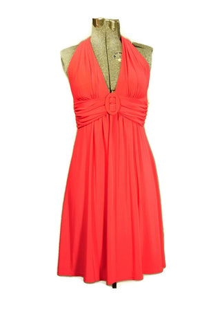 Retro B.Darlin, Red Halter Mini Halter Cocktail Dress - ROBINS HERITAGE USA Vintage