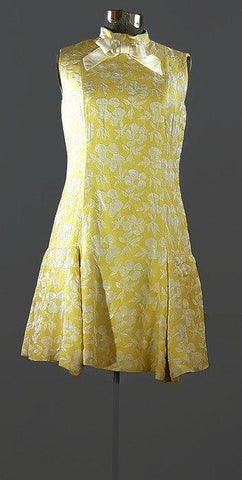 Saks Fifth Ave 1960 Brocade Scooter Dress, Just In - ROBINS HERITAGE USA Vintage