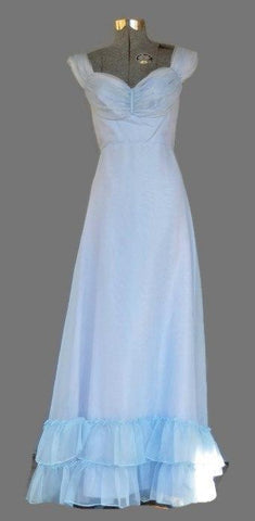 Vintage 1970, Empire Waist Lavender Formal Dress - ROBINS HERITAGE USA Vintage