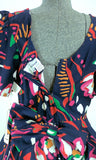 Pop Art Peplum Cotton Dress Vintage ALaMode - ROBINS HERITAGE USA Vintage