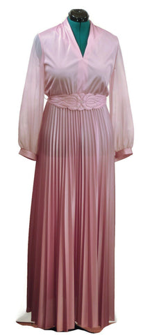 Vintage Effervescent Pink Long Mother of the Bride Dress. Vintage Plus Size Formal Dress - ROBINS HERITAGE USA Vintage - 1