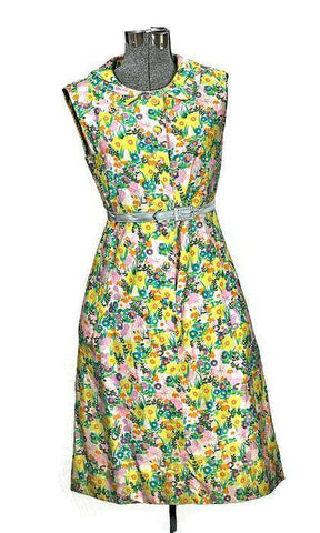 Vintage MOD 1960 Peck & Peck Flowers Dress, Just In - ROBINS HERITAGE USA Vintage