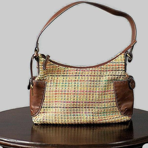 Retro Basket Weave Fossil Bag Modern Preowned, Just In - ROBINS HERITAGE USA Vintage