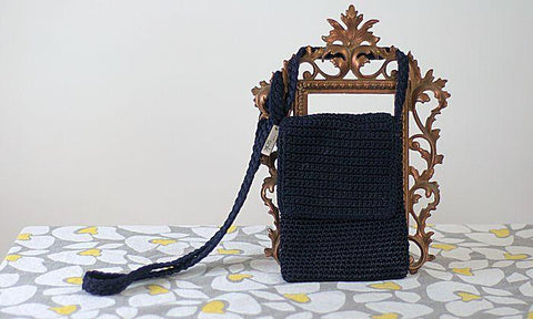 Retro Saks Fifth Ave. Crochet Purse - ROBINS HERITAGE USA Vintage - 1