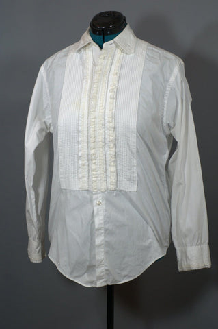 Vintage Tuxedo Shirt 1960's Continental Men's Shirt - ROBINS HERITAGE USA Vintage