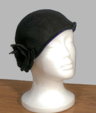 1950's Henry Pollack, Wool Cloche Vintage Hat - ROBINS HERITAGE USA Vintage