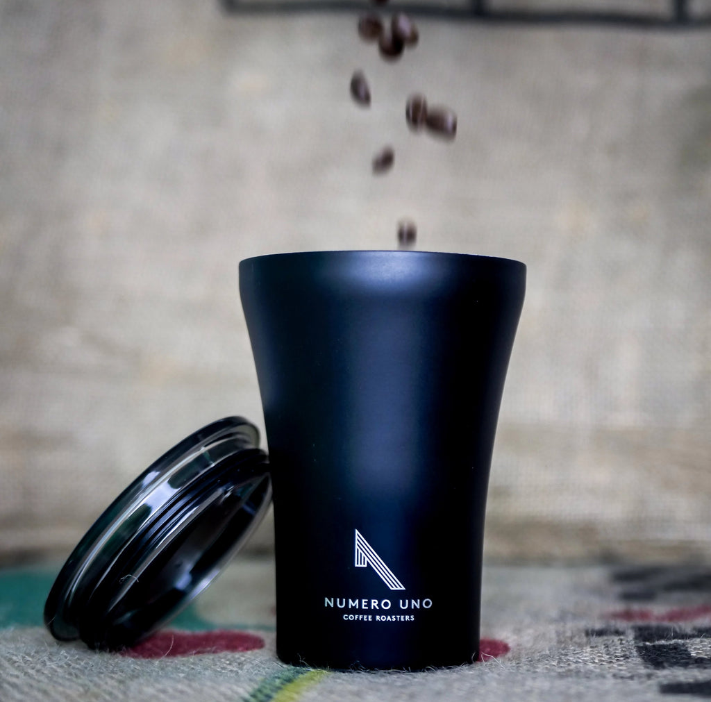 STTOKE Ceramic Reusable Cup, 8oz - Black