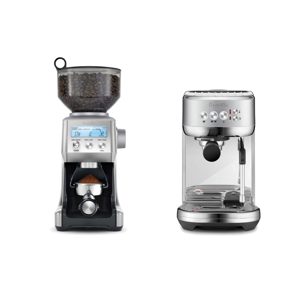 BREVILLE DUO: Bambino + Smart Grinder Pro Bundle