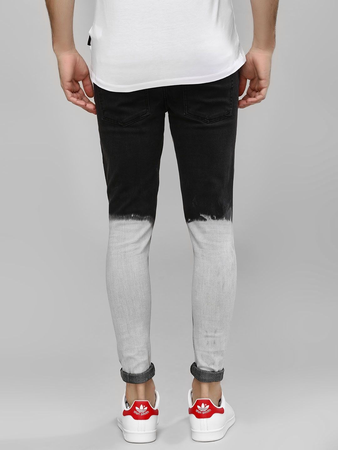 Ombre Rugged Skinny Jeans