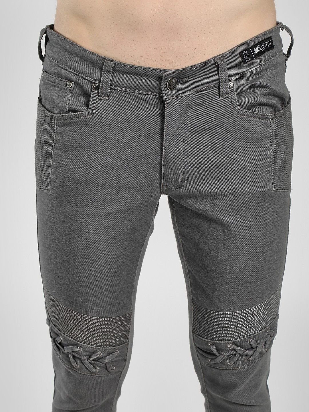 Stitched Knee Skinny Jeans