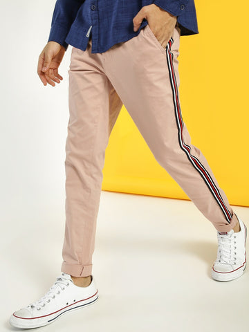 Contrast Side Tape Slim Trousers