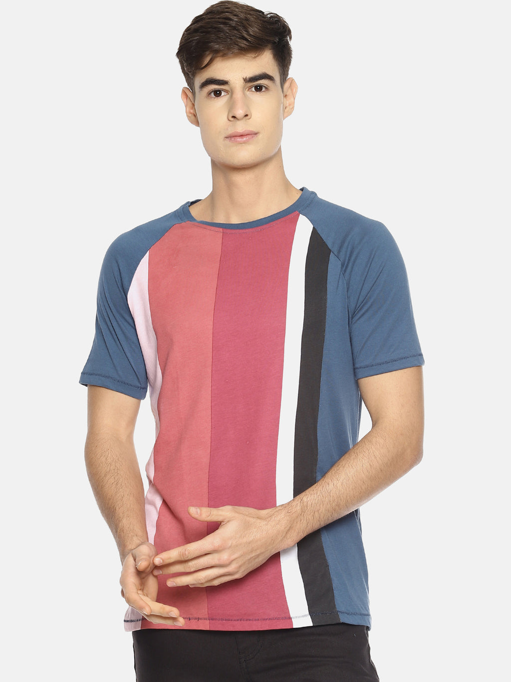 Multi color block raglan t-shirt