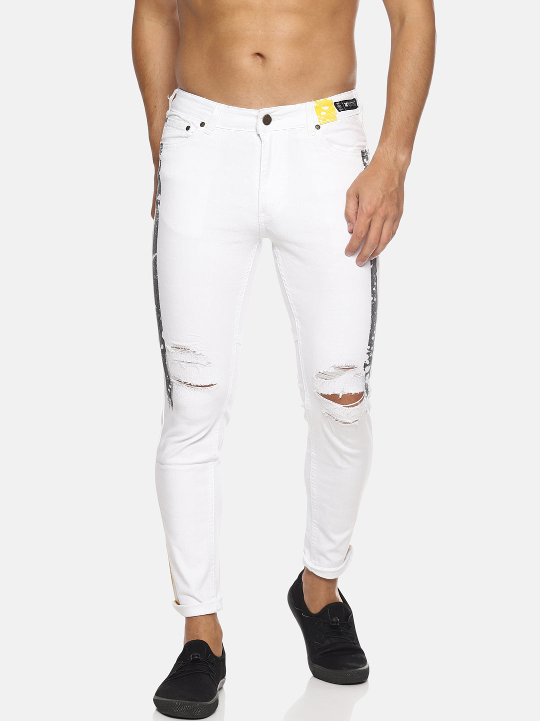 Kultprit Printed Distressed Jeans