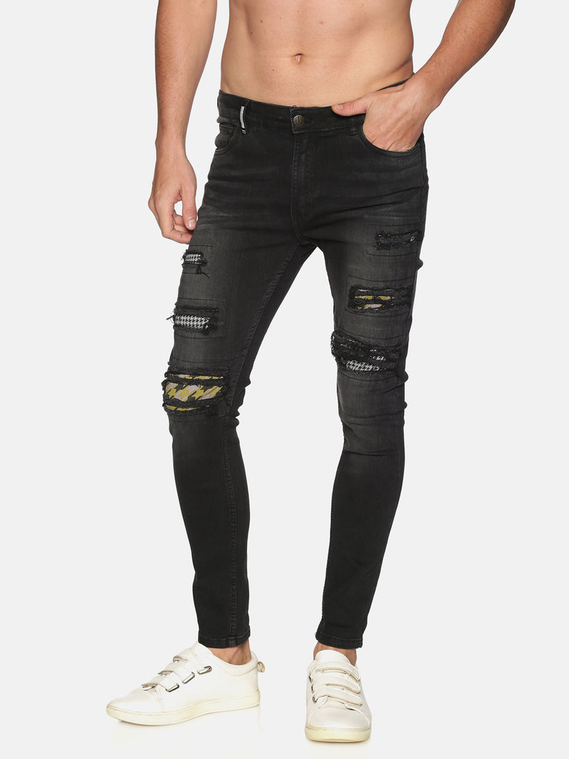 Impackt Men's Skinny Jeans With Printed Patch