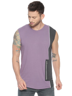 fashionable style Vest ideal for men with Cut & Sew Side pocket