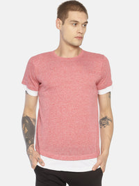 Red cut & sew t-shirt
