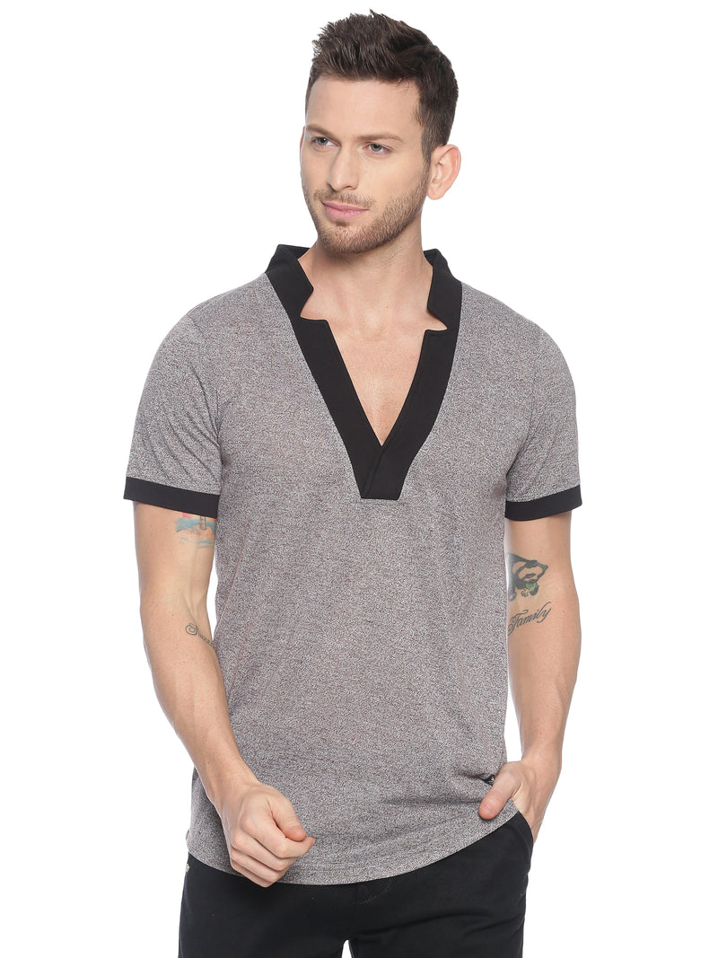 fashionable style T-Shirt ideal for men with Star neck