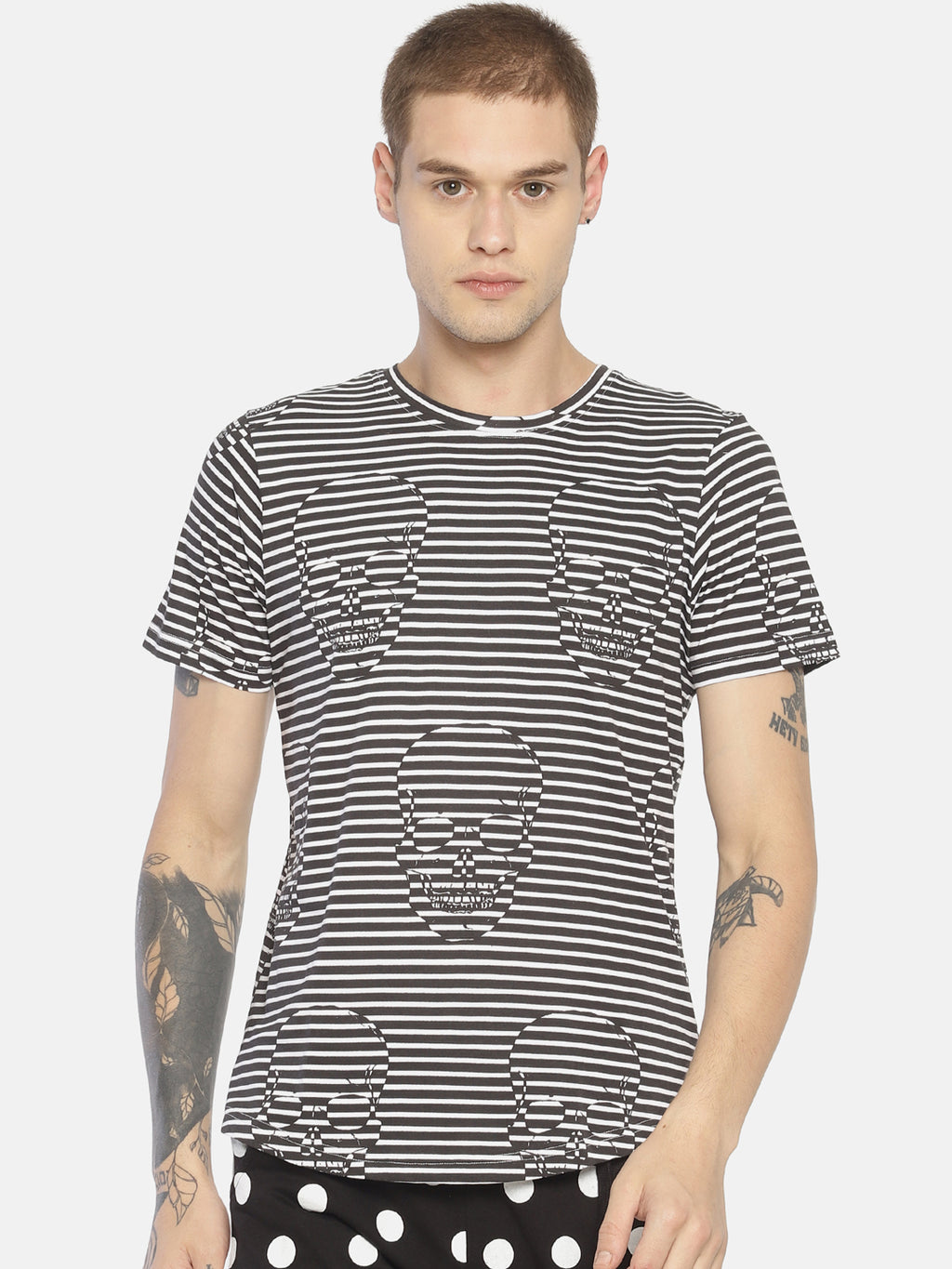 Monochrome striped t-shirt
