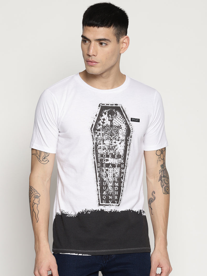 Impackt  white front print t-shirt