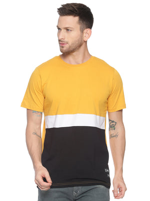 Fashionable style T-Shirt ideal for men with Colour block
