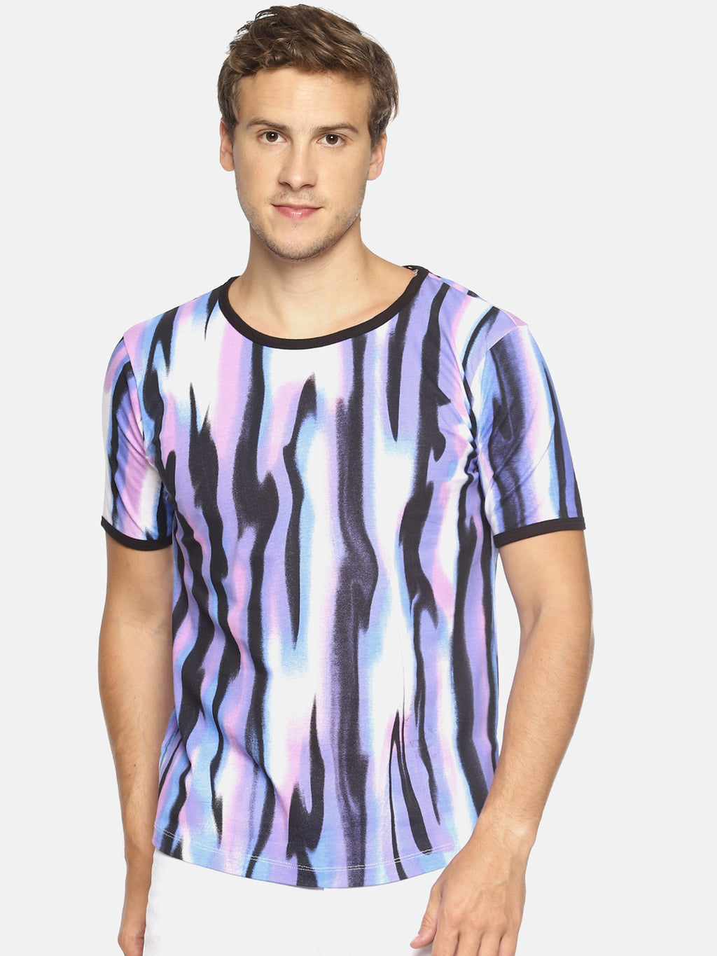 Multi colored all over print t-shirt
