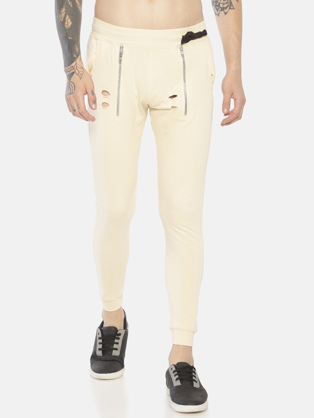Slim Fit With Cross Zipper Joggers