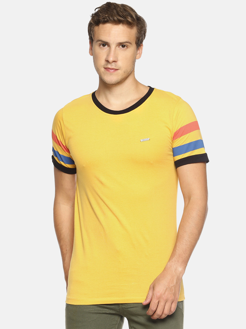 Yellow taped t-shirt